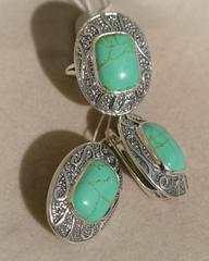 Барма  (кольцо + серьги из серебра)