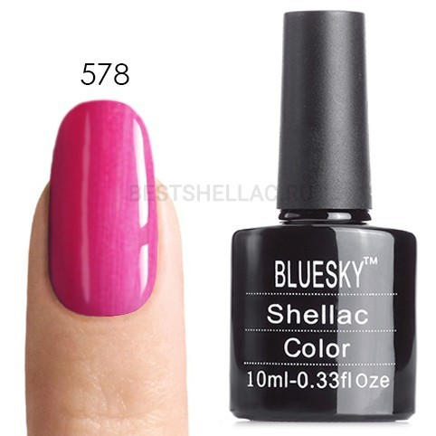 Bluesky Shellac 40501/80501 Гель-лак Bluesky № 40578/80578 Sultry Sunset, 10 мл 578.jpg
