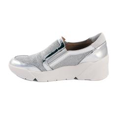 Кроссовки Wonders D8102 серебро