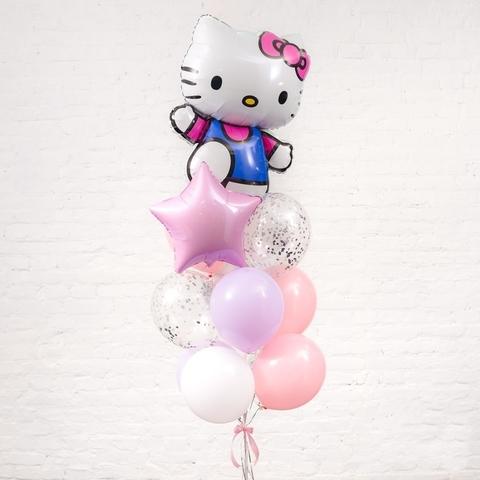 Фонтан из шаров Hello Kitty