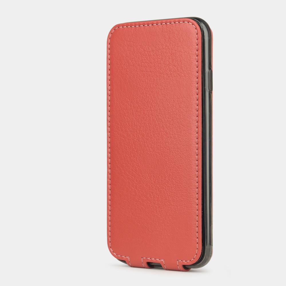 Чехол для iPhone 7 из натуральной кожи теленка, кораллового цвета