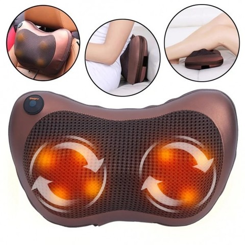 Массажная подушка с инфракрасным подогревом Massager Pillow