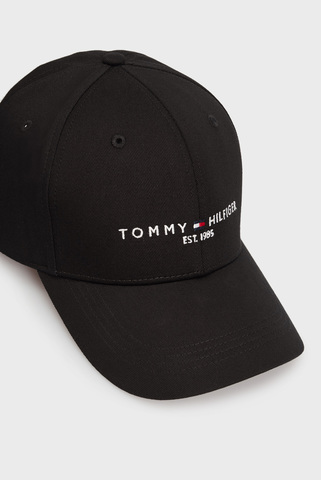 Мужская черная кепка TH ESTABLISHED CAP Tommy Hilfiger
