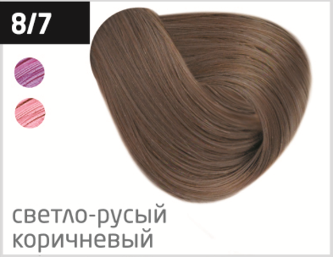 OLLIN silk touch 8/7 светло-русый коричневый 60мл безаммиачный стойкий краситель для волос