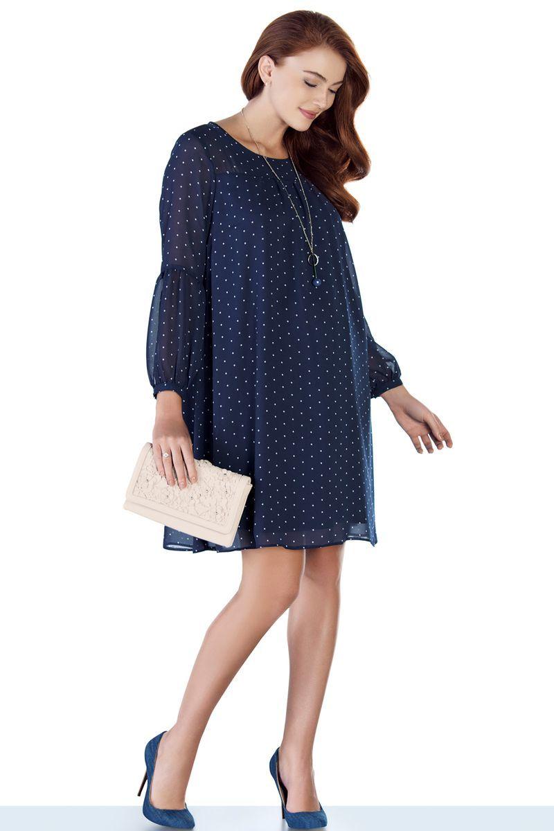 Платье для беременных 08945 синий