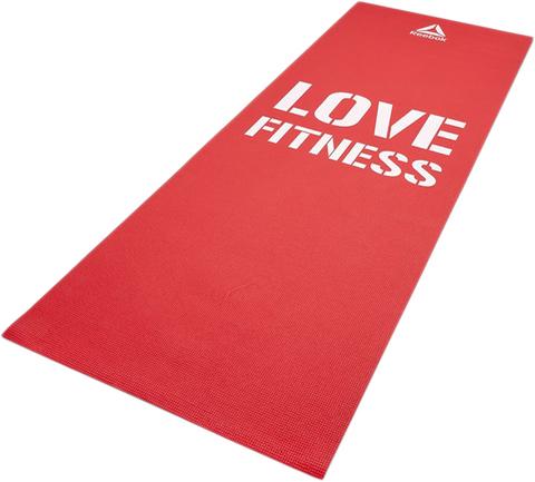 RAMT-11024RDL Тренировочный коврик (мат) для фитнеса тонкий Love (красн)
