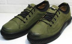 Кроссовки для повседневной носки. Модные мужские туфли под джинсы Luciano Bellini C2801 Nb Khaki.