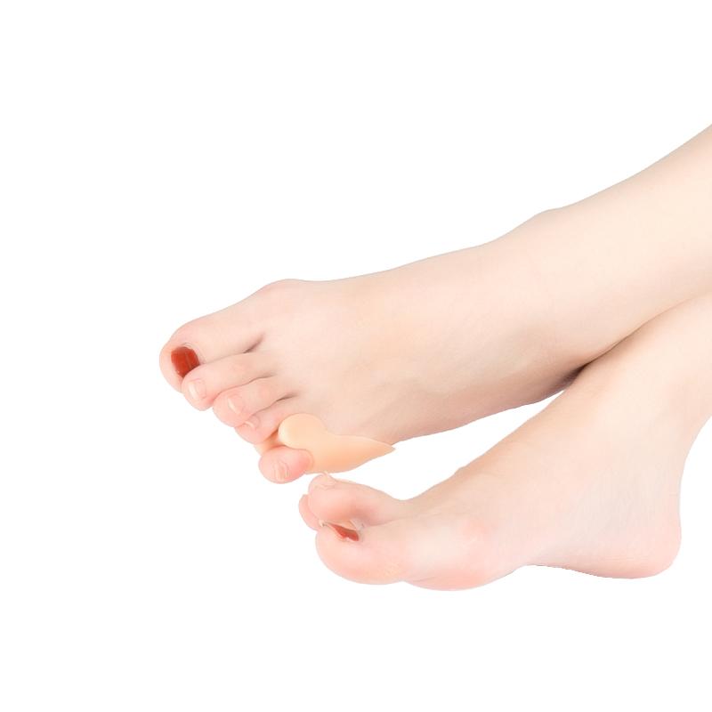 Фиксатор для коррекции мизинца ноги, телесный цвет, 2 шт.