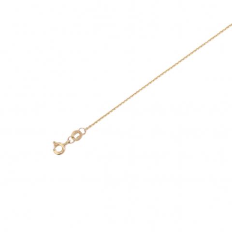 01Ц7300230 -Цепь якорного плетения из желтого золота 585 пробы