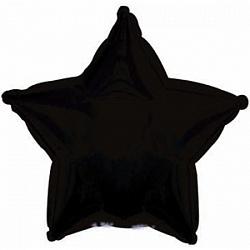 Фольгированный шар Звезда Черный 18