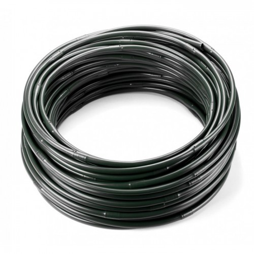 Трубка капельного полива 16мм, капля 2.1 л/час, шаг 33см (черная)