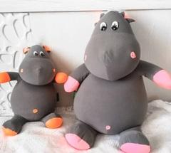 Подушка-игрушка антистресс Gekoko «Бегемот малыш Няша», оранжевый 3