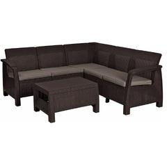 Угловой комплект уличной мебели Keter Corfu Relax Set