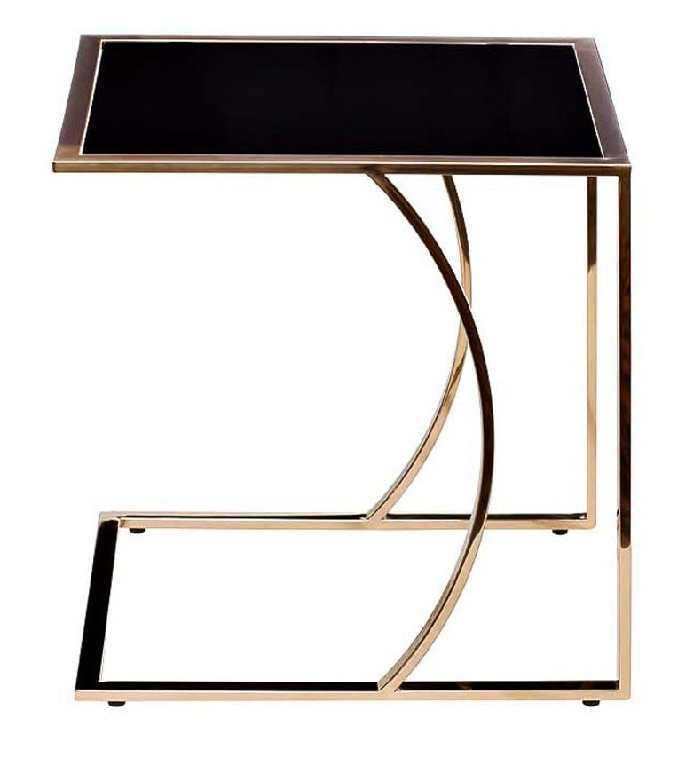 Стол журнальный 13RX5076M-GOLD 45*40*44 черный/розовое золото
