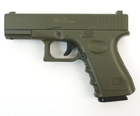 Страйкбольный пистолет Galaxy G.15G Glock металлический, пружинный