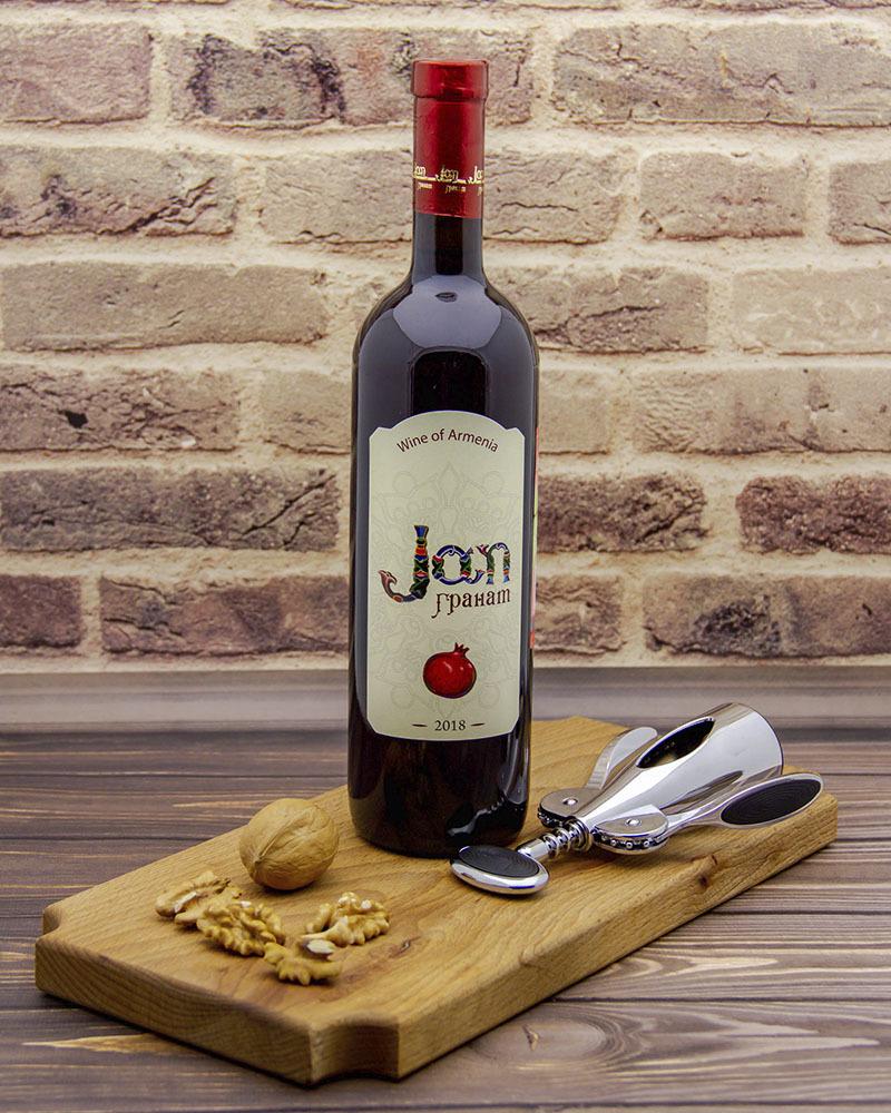 Вино Jan Фруктовое Полусладкое Гранатовое 12,0% 0,75 л.