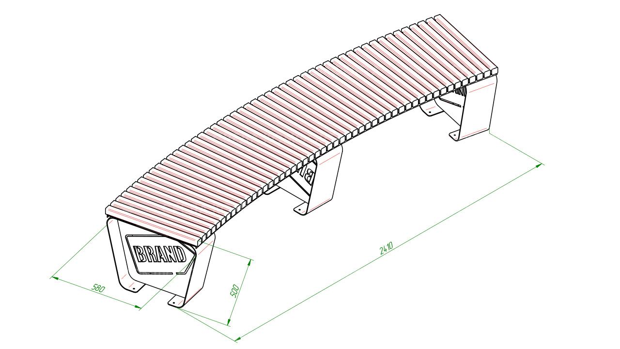 Полукруглая скамейка SCAM0005