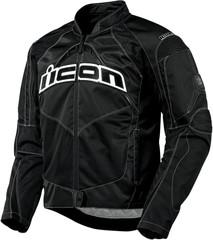 Мотокуртка - ICON CONTRA (текстиль, черная)
