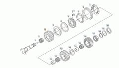 Шестерня вала КПП МАН ТГА/MAN TGA Шестерня кпп ZF 16S151  3 - 81323020055 Наклонное колесо