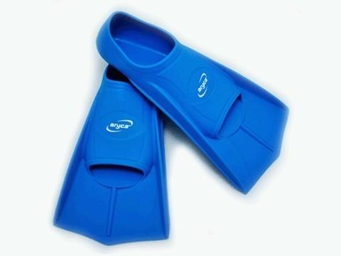 Ласты для плавания в бассейне. Размер 45-46. Цвет синий, жёлтый, чёрный. :(DF12):
