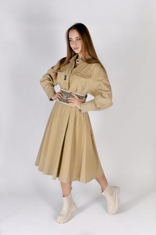 Джинсовое платье с поясом Nadya
