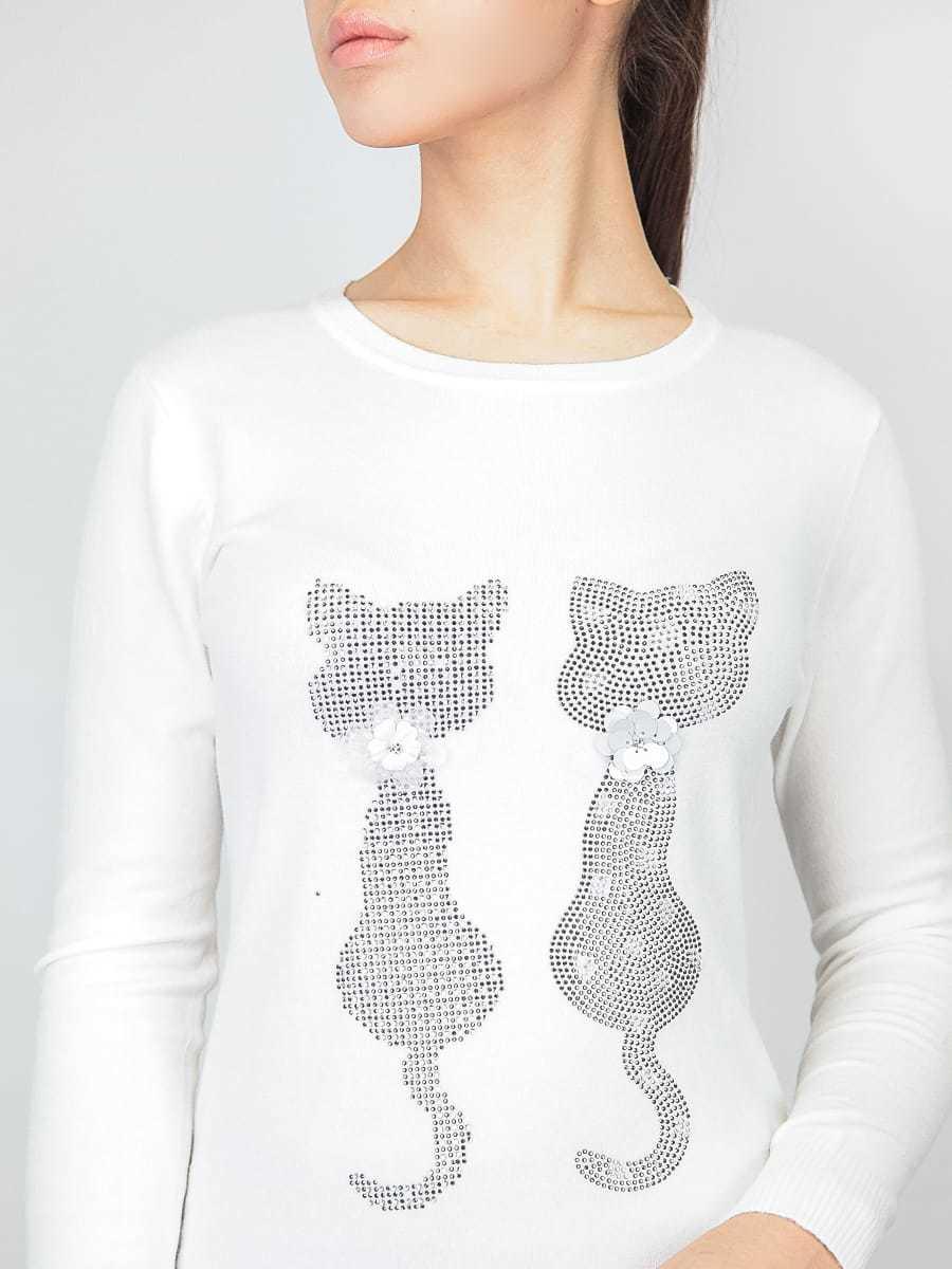 Кофта женская с кошками