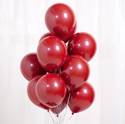 №2 Красный  Гелиевый шар Зеркальный с обработкой