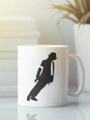 Кружка с изображением Майкла  Джексона (Michael Jackson) белая 008