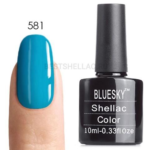 Bluesky Shellac 40501/80501 Гель-лак Bluesky № 40581/80581 Cerulean Sea, 10 мл 581.jpg