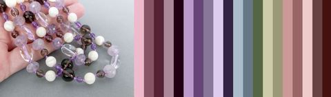 палитра цветов одежды, подходящая к бусам Лидия