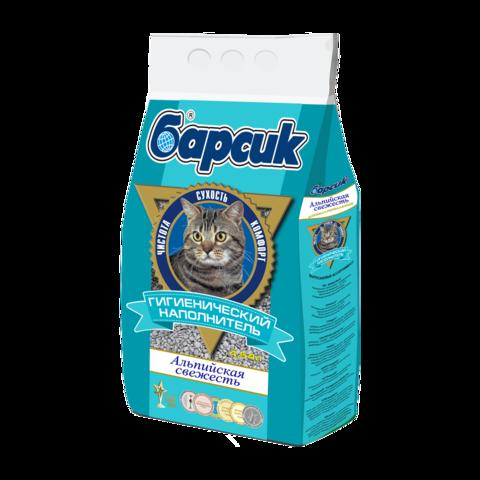 Барсик Альпийская свежесть Наполнитель для туалета кошек впитывающий