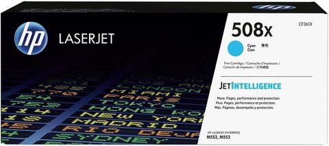 Оригинальный картридж HP CF361X (№508X), голубой