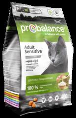 Корм ProBalance Sensitive для взрослых кошек с чувствительным пищеварением, с курицей и рисом