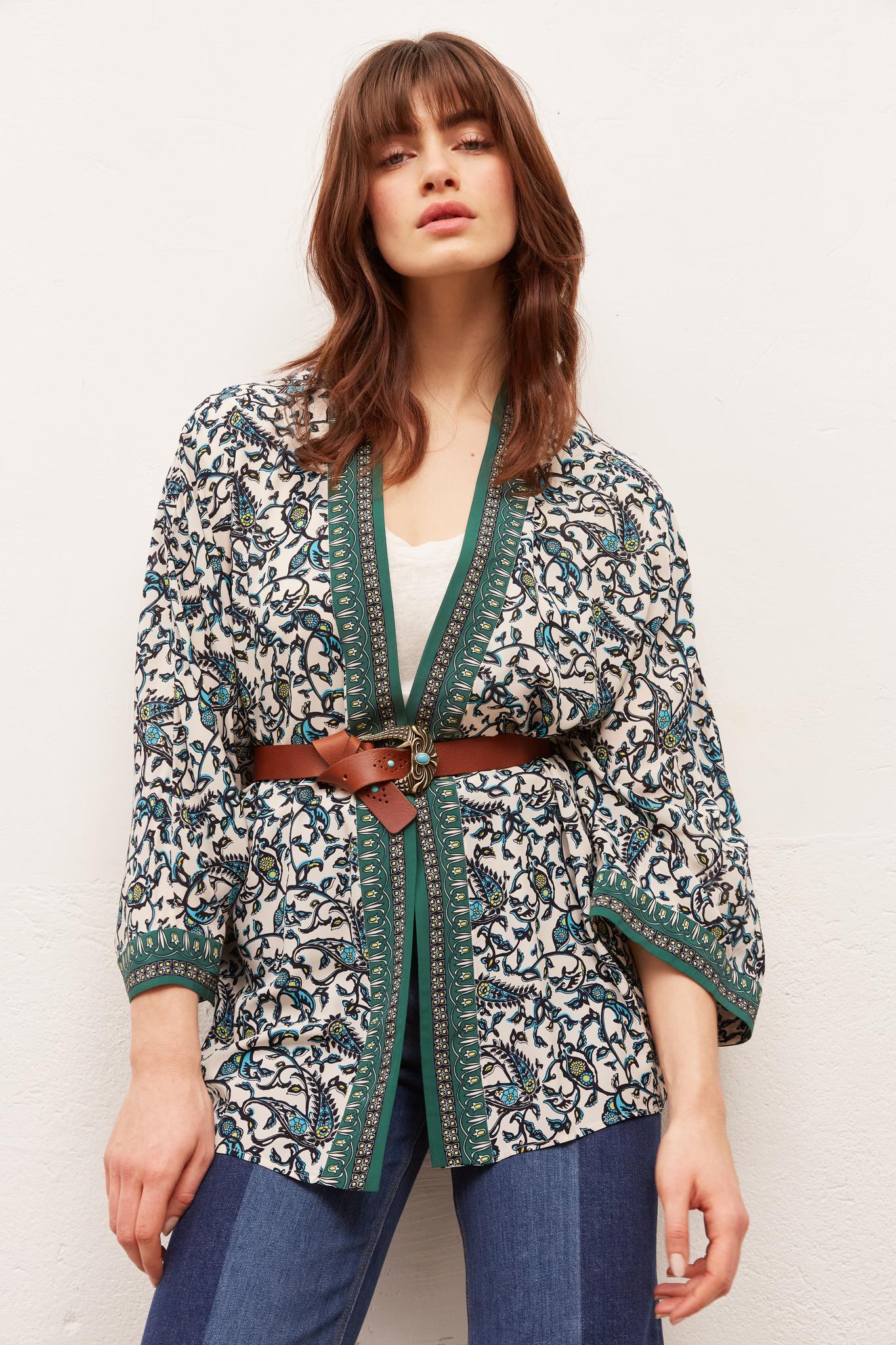 AGHATE - Жакет в стиле кимоно с принтом