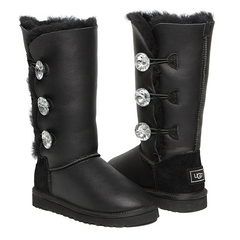 UGG Bailey Button Triplet Bling Metallic Black