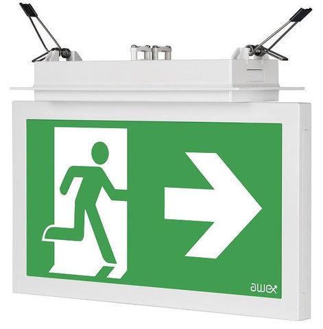 Светодиодный светильник указатель выход IP44 Infinity II AD Awex – общий вид