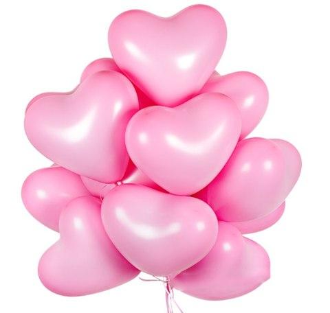 Воздушные шары сердца розовые