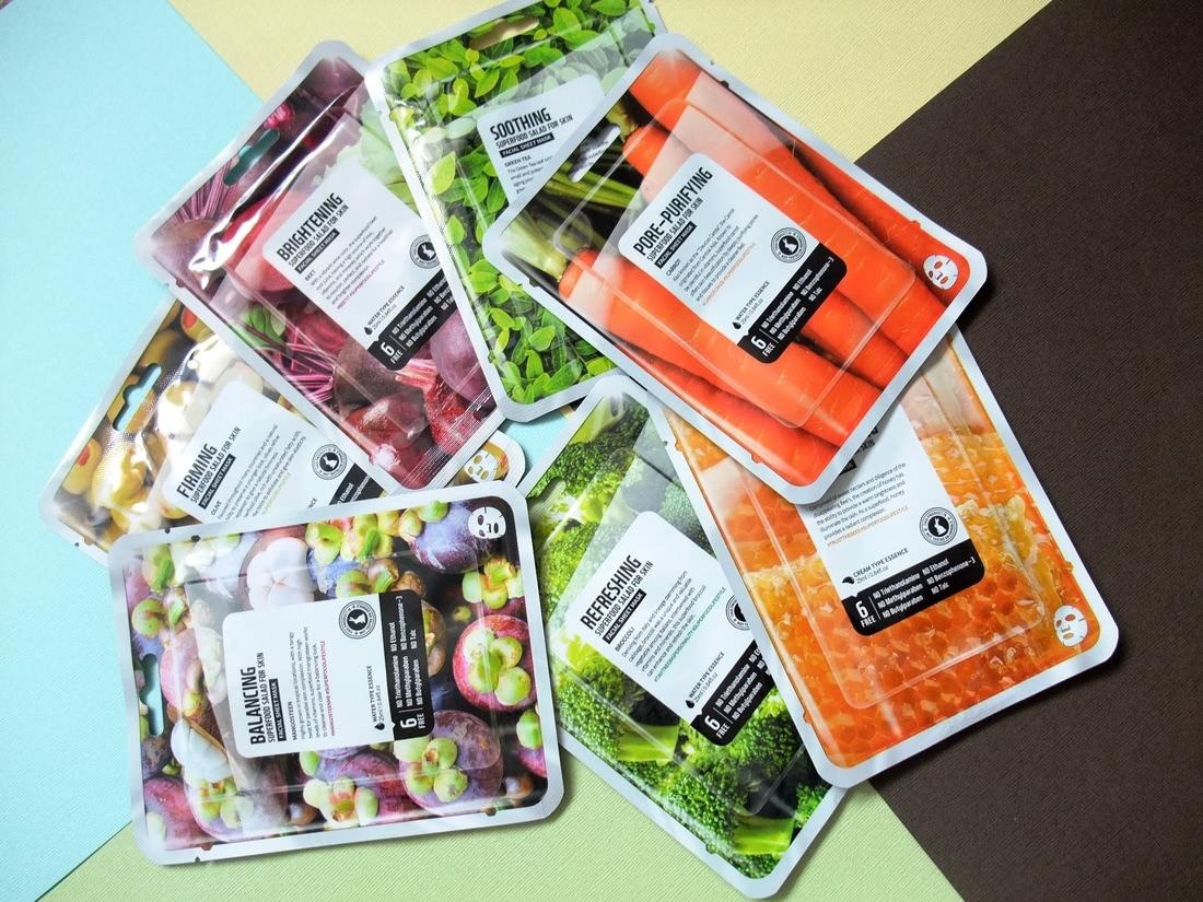 SUPERFOOD SALAD FOR SKIN набор из 7 тканевых масок