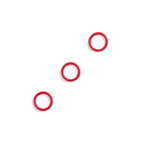 Кольцо для бретели красное 10 мм (цв. 100)