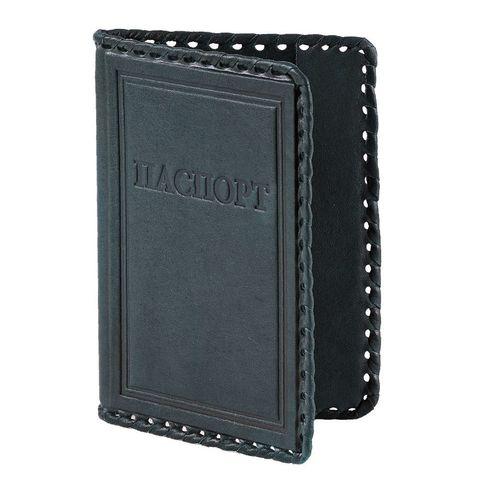 Обложка на паспорт «Русский». Цвет черный