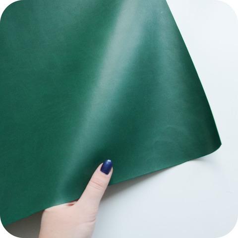 Кожзам переплетный матовый, зеленый