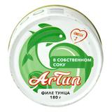 Тунец ARTUN консервированный филе в собственном соку 180 г