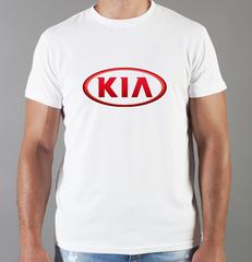 Футболка с принтом KIA (КИА) белая 003