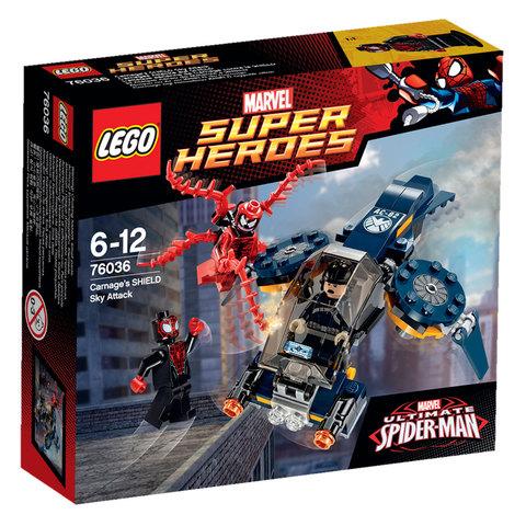LEGO Super Heroes: Воздушная атака Карнажа 76036 — Carnage's SHIELD Sky Attack — Лего Супергерои Марвел