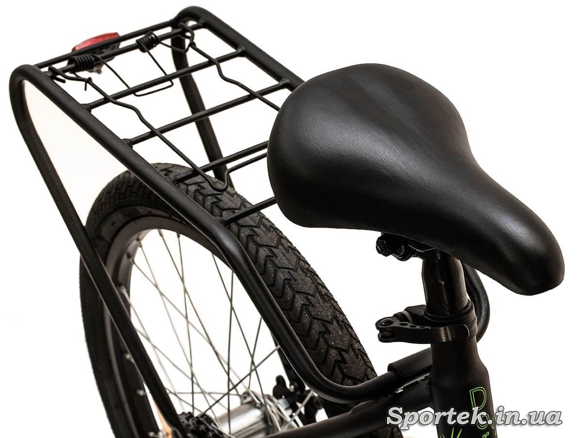 Седло и багажник складного подросткового велосипеда Dorozhnik Fun 2016