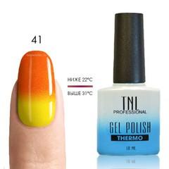 TNL, Термо гель-лак № 41 апельсиновый/желтый (с микроблёстками), 10 мл