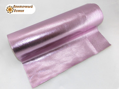 Кожа блестящая розовая