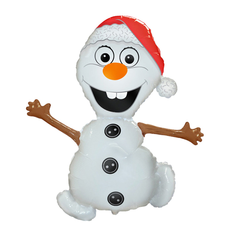 Фольгированный воздушный шар - Снеговик Олаф из мультфильма