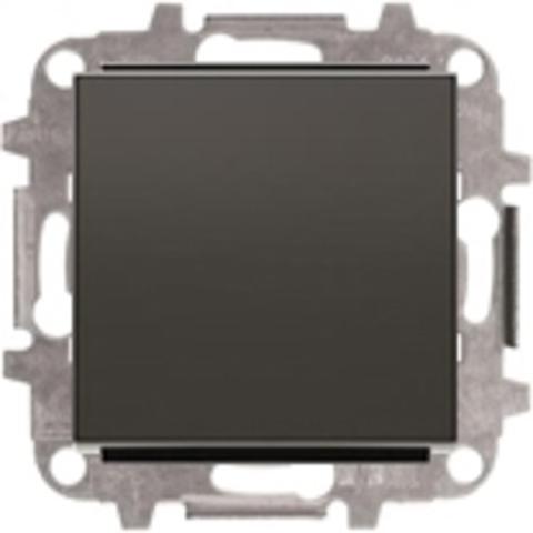 Переключатель одноклавишный. Цвет Чёрный бархат. ABB Sky. 8102+2CLA850100A1501