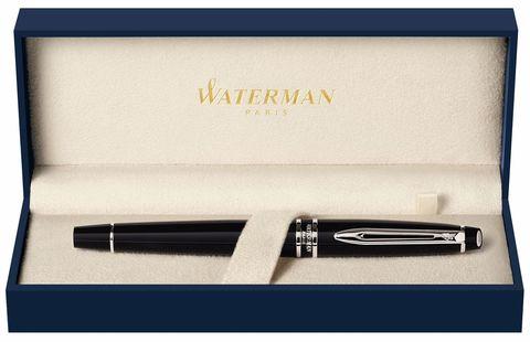 Ручка-роллер Waterman Expert, цвет: Black Laque CT, стержень: Fblk123